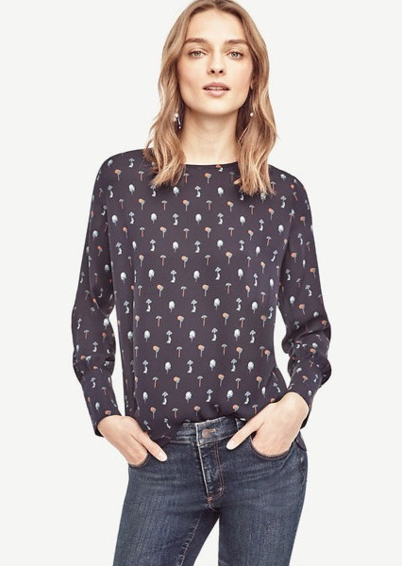 Ann Taylor Tree Wide Cuffed Blouse