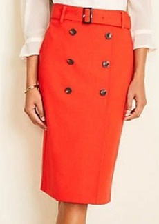 Ann Taylor Trench Pencil Skirt