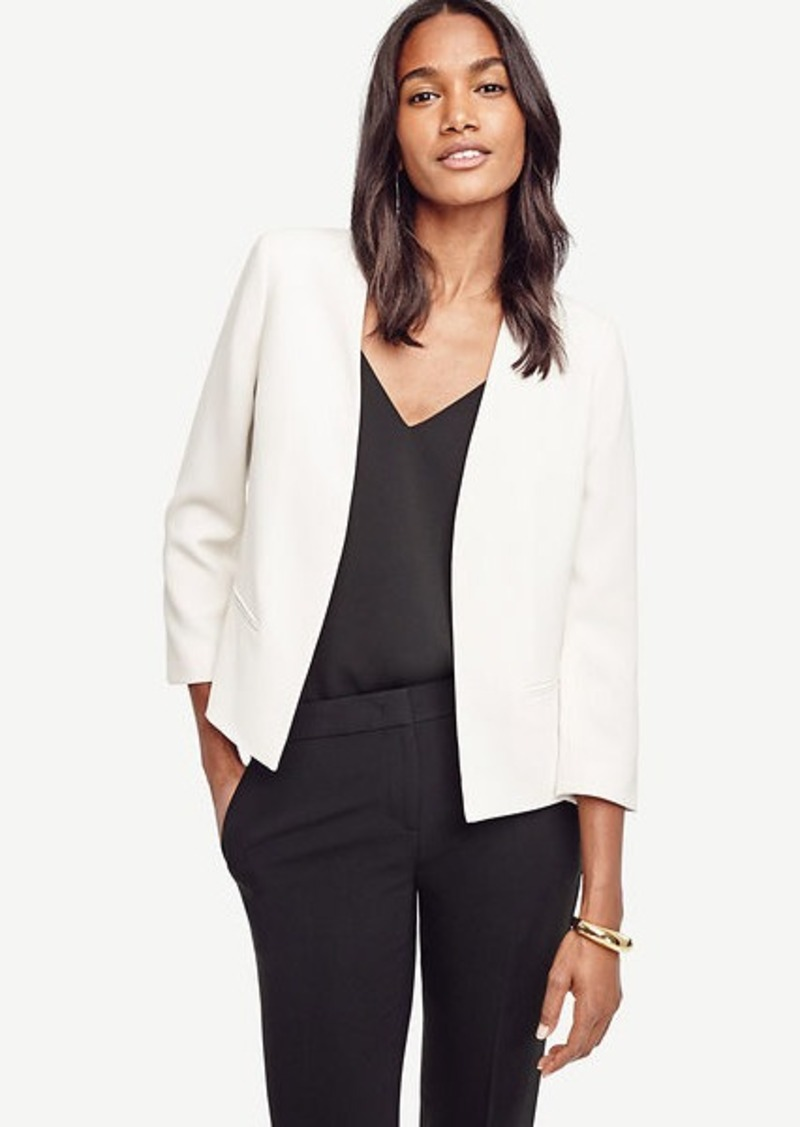 Ann Taylor Triacetate Collarless Jacket