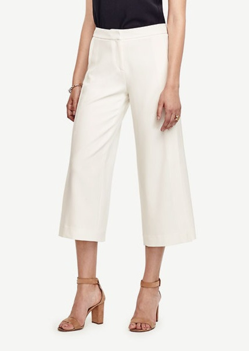 Ann Taylor Triacetate Wide Leg Crop Pants