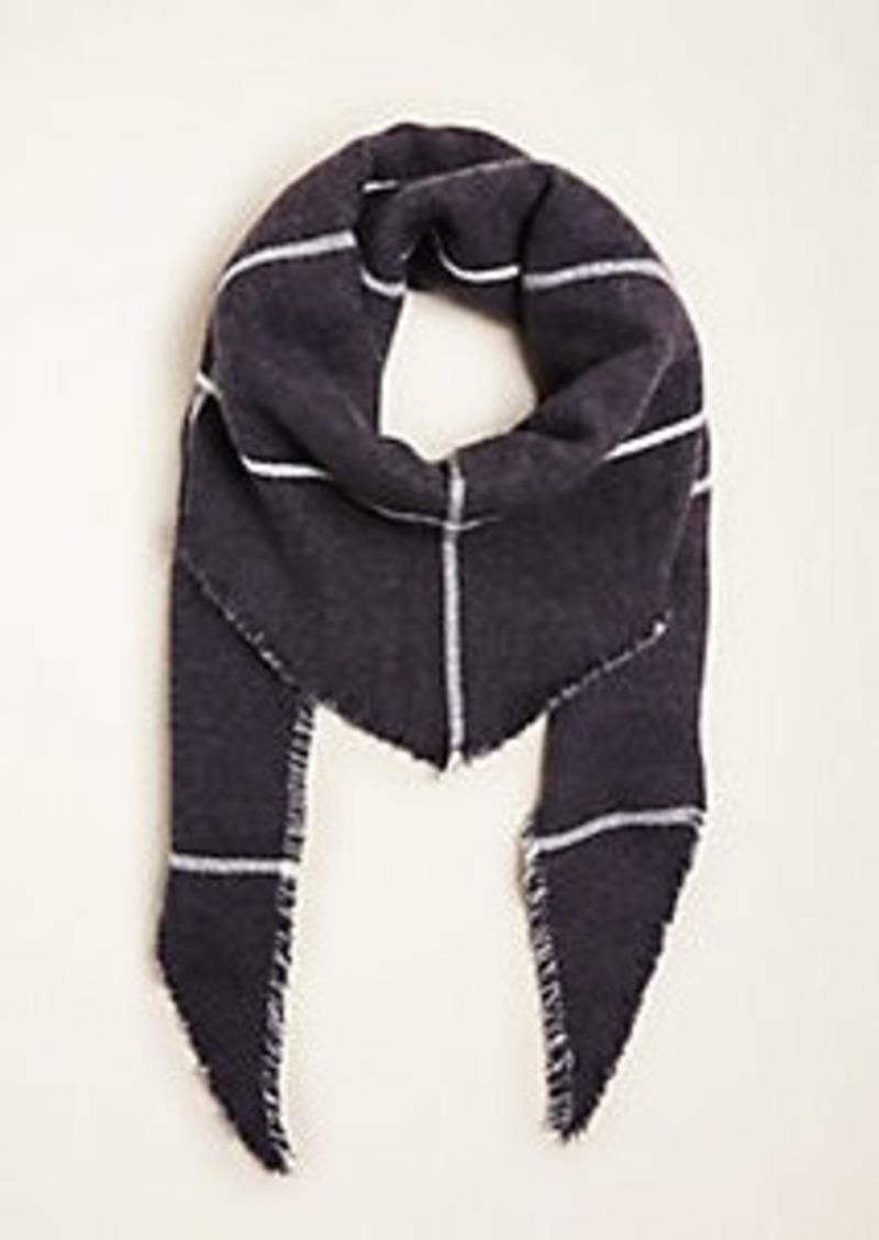 Ann Taylor Triangle Fringe Blanket Scarf