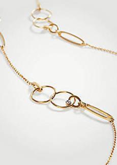 Ann Taylor Triple Circle Station Necklace