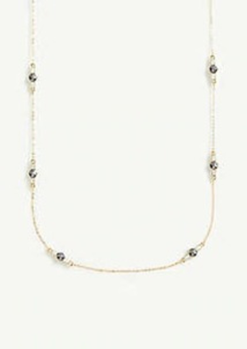Ann Taylor Triple Crystal Station Necklace