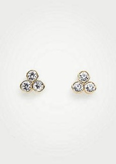 Ann Taylor Triple Crystal Stud Earrings