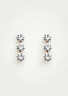 Ann Taylor Triple Crystal Stud Earrings
