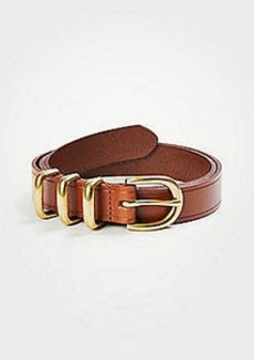 Ann Taylor Triple Keeper Leather Trouser Belt