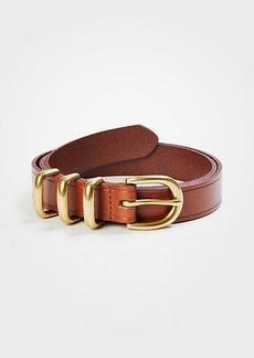 Ann Taylor Triple Keeper Leather Trouser Belt