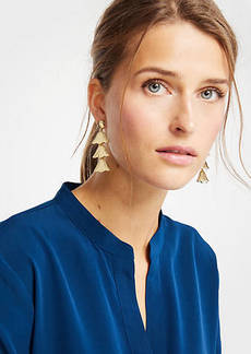 Ann Taylor Triple Leaf Earrings