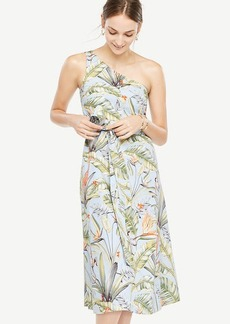 Tropical One Shoulder Dress