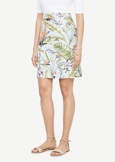 Ann Taylor Tropical Print Skirt