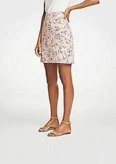Ann Taylor Tropical Toile Textured A-Line Skirt