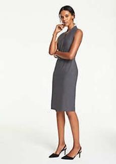 Ann Taylor Tropical Wool Belted Sheath Dress