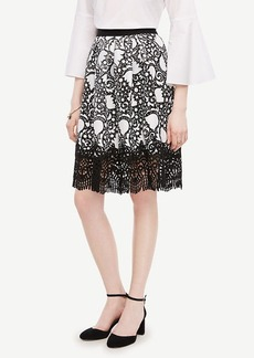 Ann Taylor Tulip Lace Full Skirt