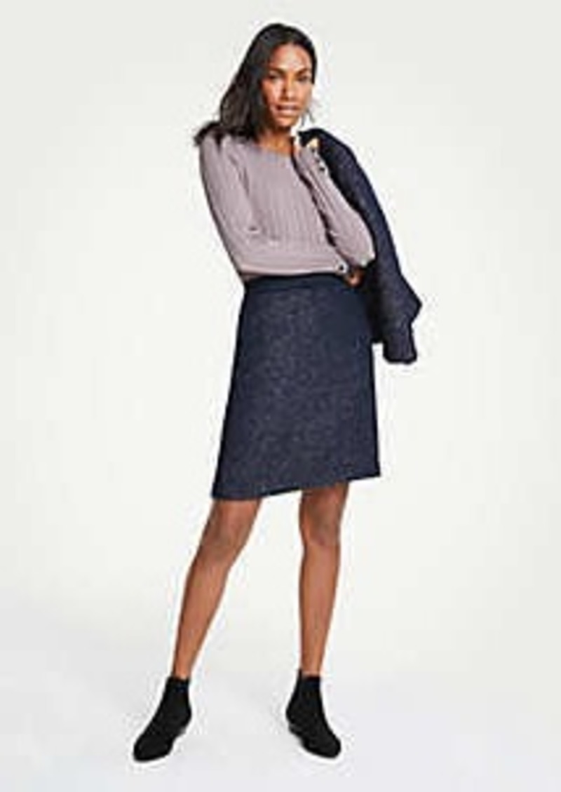 Ann Taylor Tweed A-Line Skirt