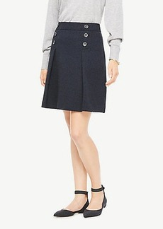 Ann Taylor Tweed Button Skirt
