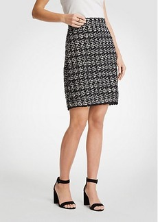 Ann Taylor Tweed Fringe Skirt