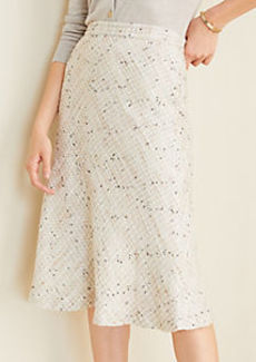 Ann Taylor Tweed Full Midi Skirt