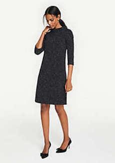 Ann Taylor Tweed Knit Shift Dress