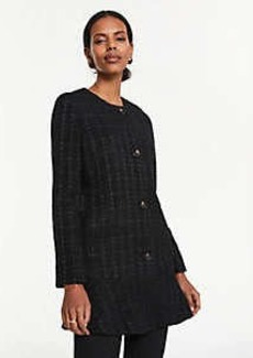 Ann Taylor Tweed Long Peplum Jacket