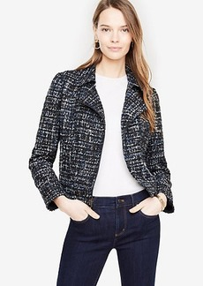 Ann Taylor Tweed Moto Jacket