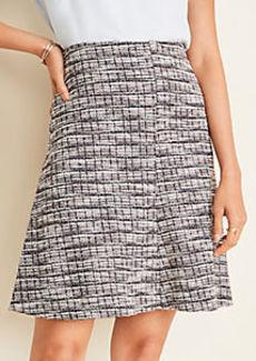 Ann Taylor Tweed Paneled Full Skirt