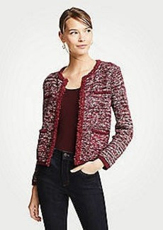 Ann Taylor Tweed Pocket Jacket