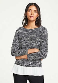 Ann Taylor Tweed Two-in-One Top