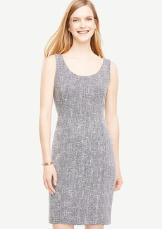 Tweed Scoop Neck Sheath Dress