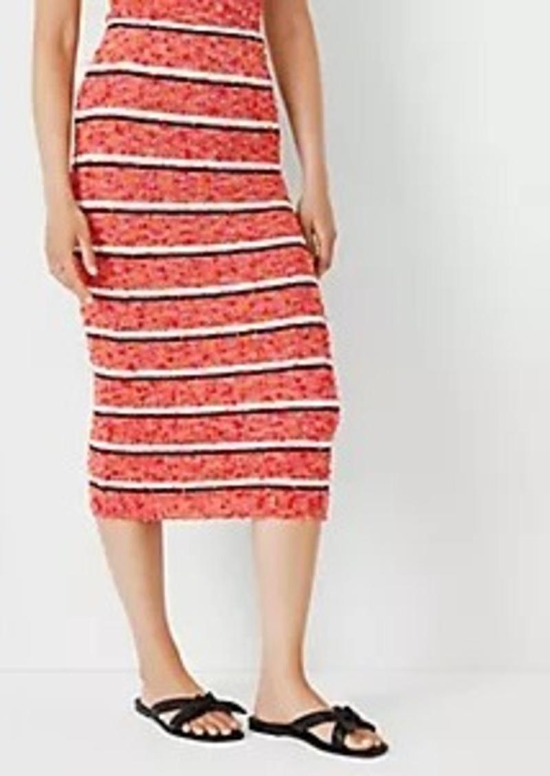 Ann Taylor Tweed Stripe Sweater Pencil Skirt