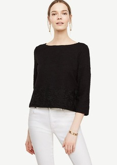 Tweedy Lace Hem Top