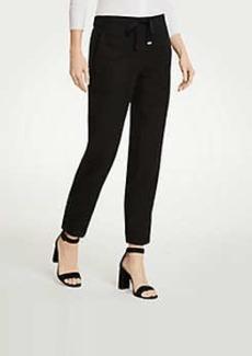 Ann Taylor Twill Drapey Ankle Pants