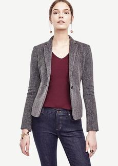 Ann Taylor Twill Single Button Blazer