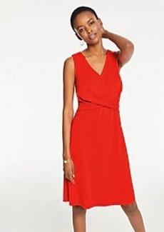 Ann Taylor Twist Matte Jersey Flare Dress