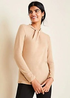 Ann Taylor Twist Neck Long Sleeve Top