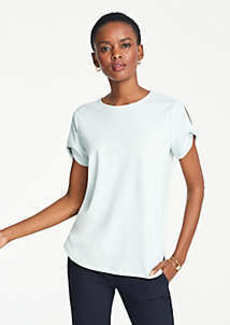 Ann Taylor Twist Sleeve Top