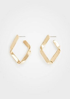Ann Taylor Twisted Hoop Earrings