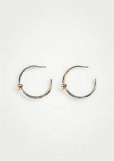 Ann Taylor Twisted Knot Hoop Earrings