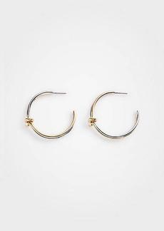 Ann Taylor Twisted Knot Hoop Earrings