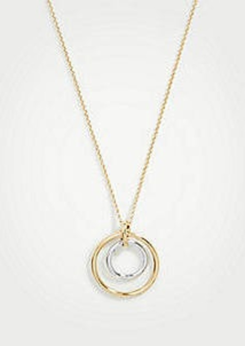 Ann Taylor Twisted Knot Pendant Necklace