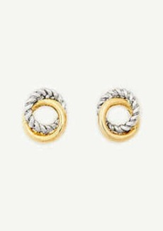 Ann Taylor Twisted Metal Stud Earrings
