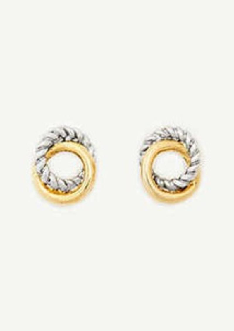 Ann Taylor Twisted Metal Stud Earrings