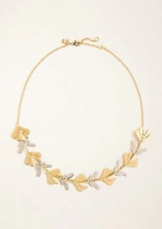 Ann Taylor Two Tone Leaf Necklace