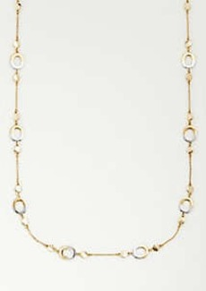Ann Taylor Two Tone Station Necklace