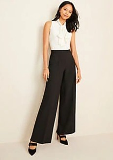 Ann Taylor Two Tone Tie Neck Jumpsuit
