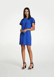 Ann Taylor V-Back Flutter T-Shirt Dress