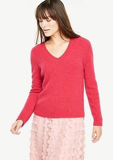 V-Neck Boucle Sweater