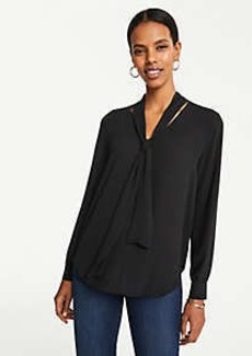 Ann Taylor V-Neck Bow Blouse