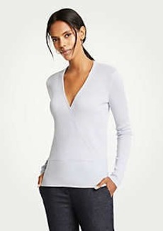 Ann Taylor V-Neck Crossover Sweater