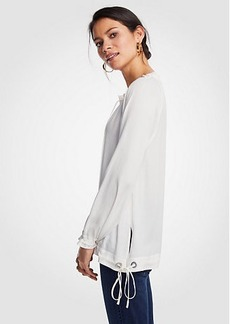 Ann Taylor V-Neck Drawstring Top