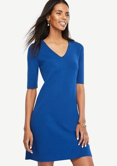 Ann Taylor V-Neck Sweater Dress